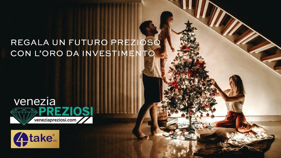 Natale 2020 con lingotti di oro puro da investimento di 4take - Venezia Preziosi