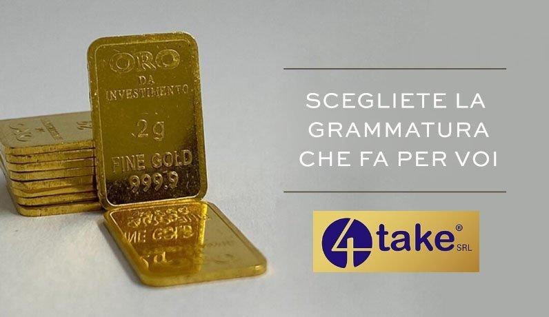 Natale 2020 lingotti di Oro puro da investimento 4Take