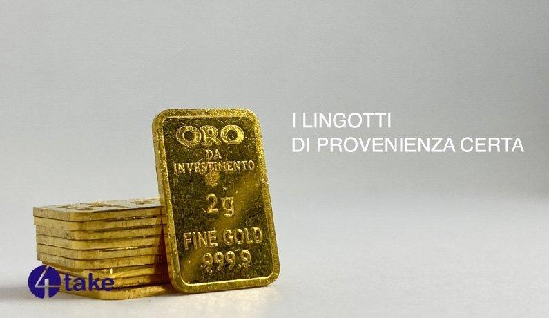 L'Oro usato per lingotti di 4Take - Venezia Preziosi