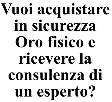 Acquistare Oro da investimento - Venezia Preziosi