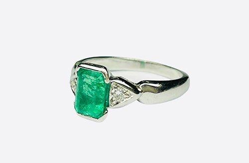 Smeraldo anello con Diamante - Venezia Preziosi