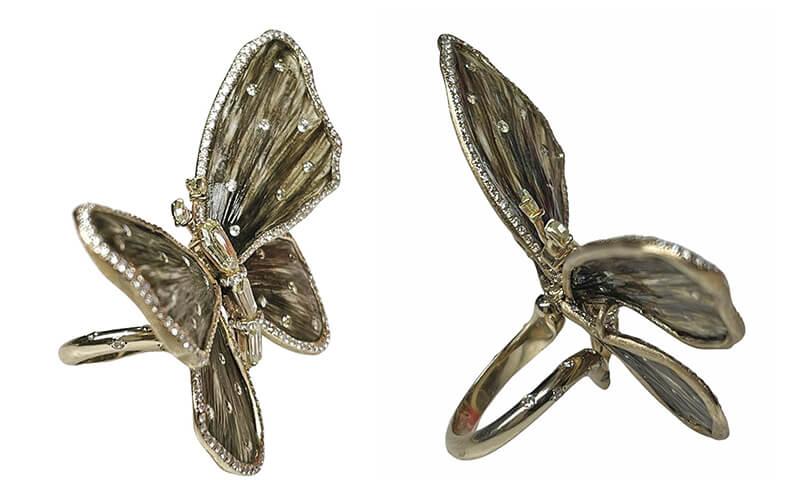 Anello Farfalla Oro e diamanti - Venezia Preziosi
