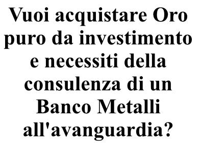 Banco Metalli 4Take - Venezia Preziosi